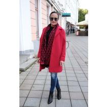 Lühike mantel Dana, punane